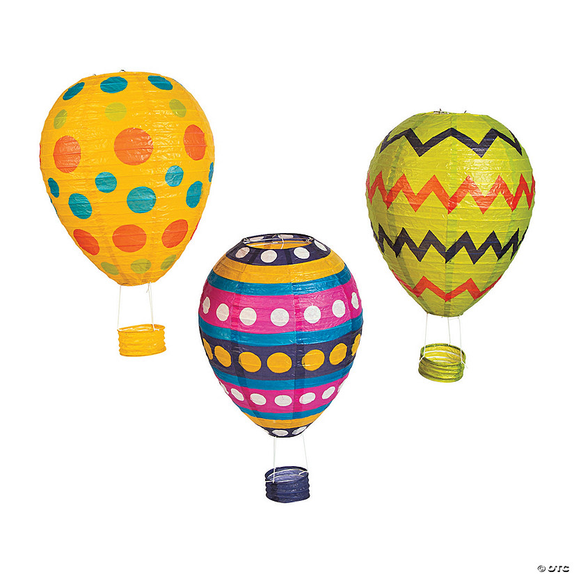 Easter Egg Hot Air Balloon Hanging Paper Lantern