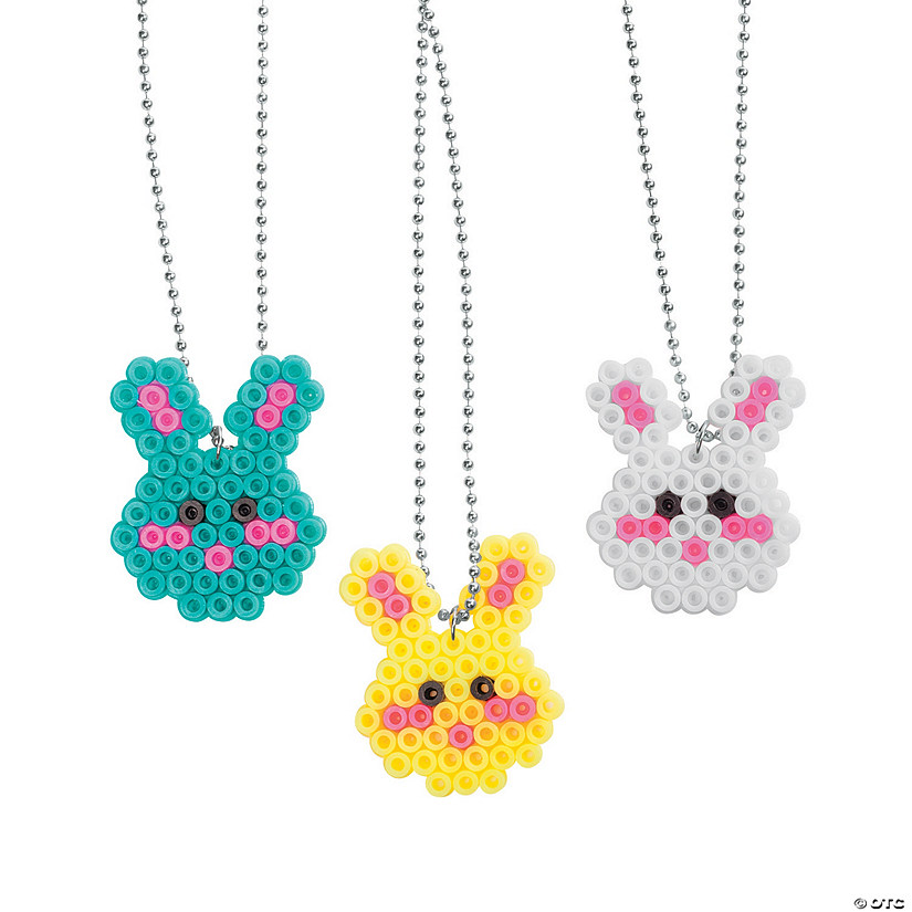 Easter Fuse Bead Necklaces
