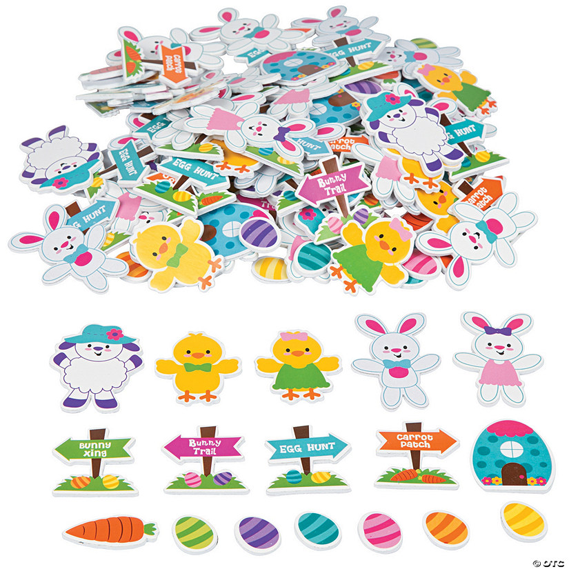Eastertime Self-Adhesive Shapes