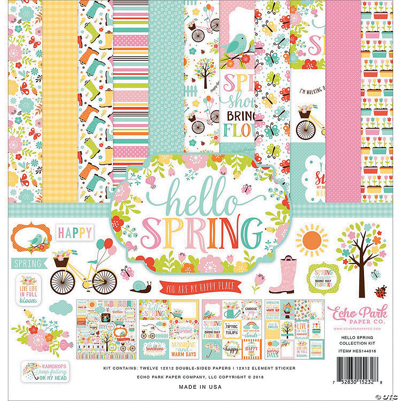 "Echo Park Collection Kit 12""X12""-Hello Spring"