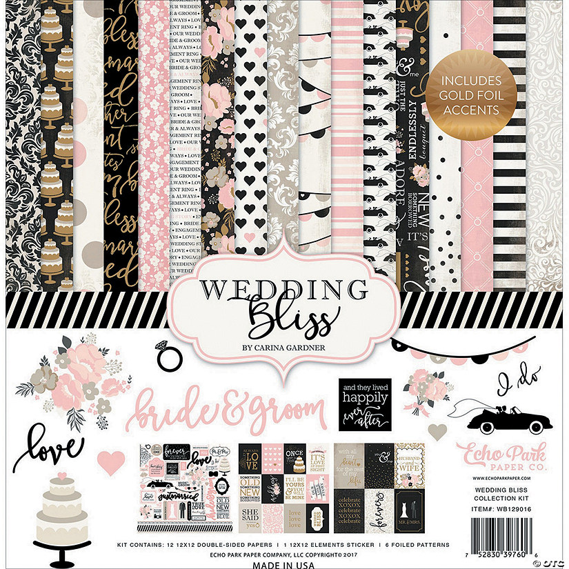 "Echo Park Collection Kit 12""X12""-Wedding Bliss"