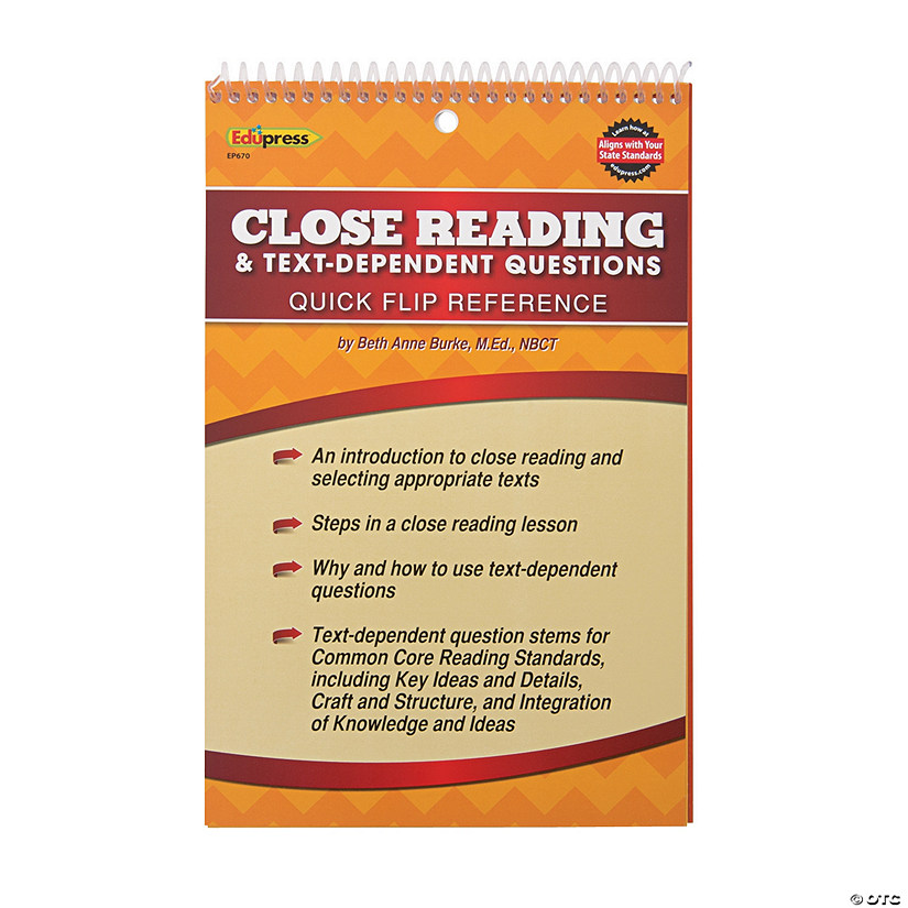 Edupress® Close Reading Flip Book