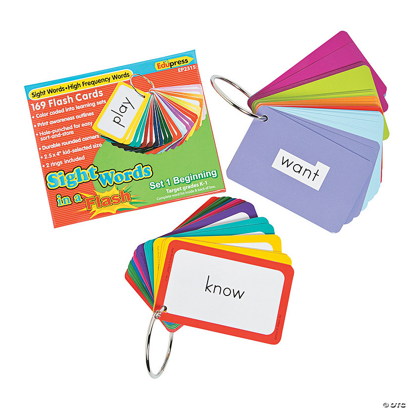 Edupress® Sight Word in a Flash™ Cards Grades K-1