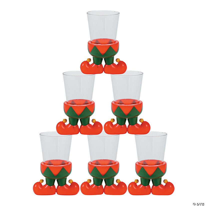 Elf Character Plastic Shot Glasses