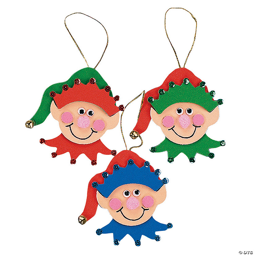Elf Christmas Ornament Craft Kit