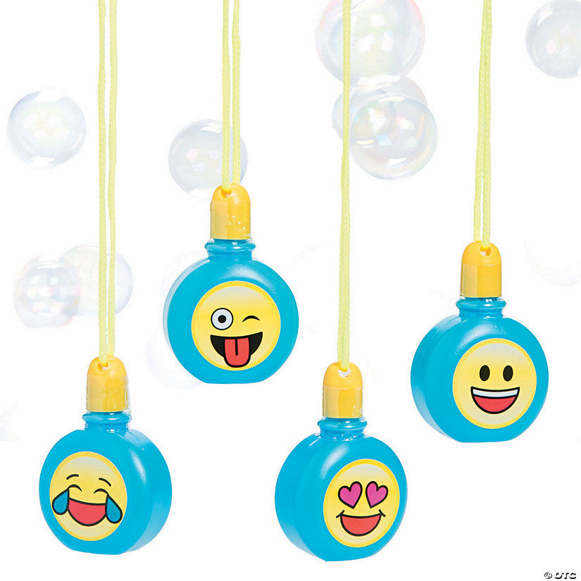 Emoji Bubble Bottle Necklaces