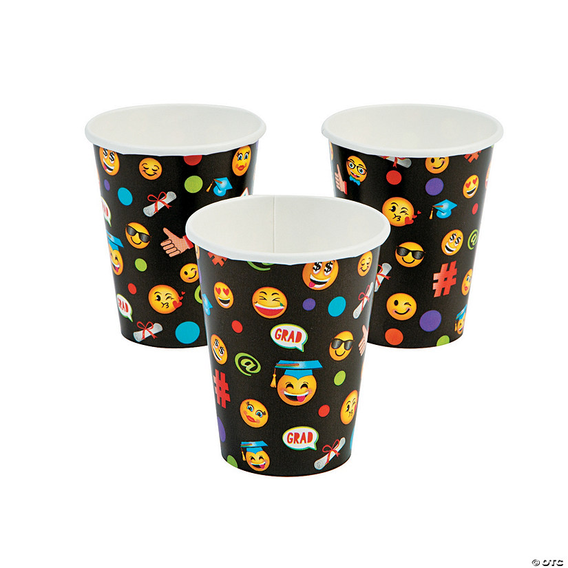Emoji Graduation Party Paper Cups