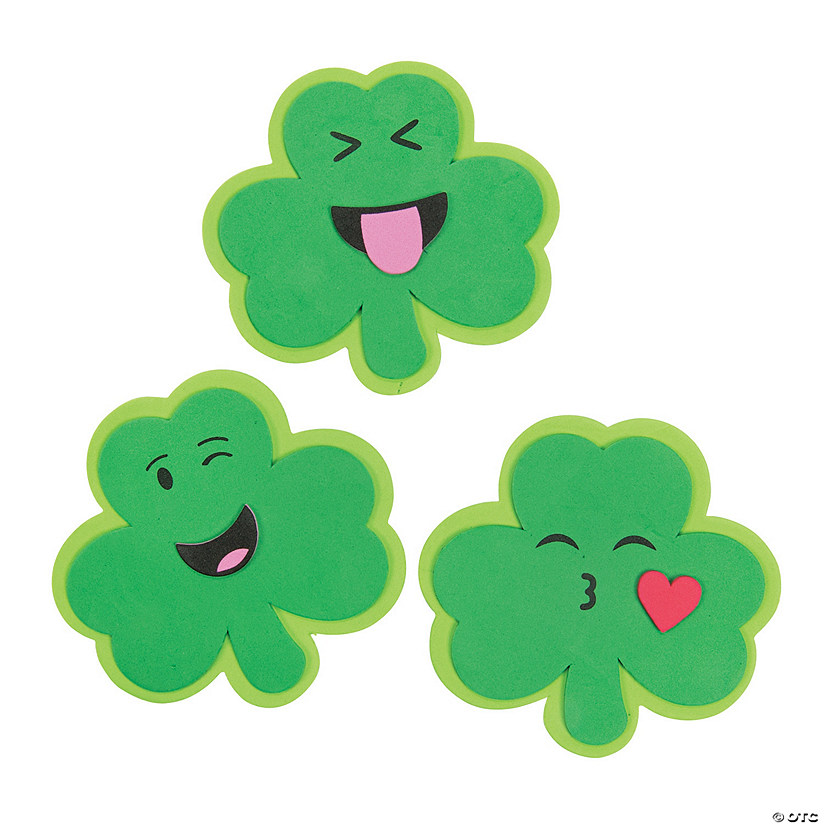 Emoji Shamrock Magnet Craft Kit