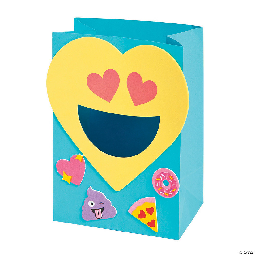 Emoji Valentine's Day Card Holder Bag Craft Kit