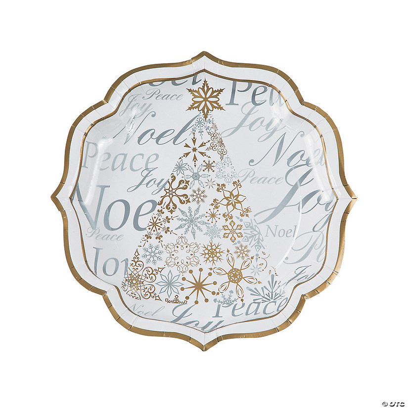 Enchanted Christmas Paper Dinner Plates