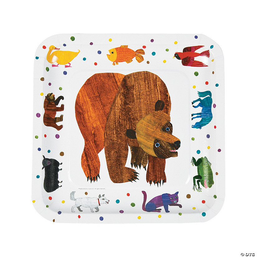 Eric Carle Brown Bear, Brown Bear, What Do You See? Paper Dinner Plates