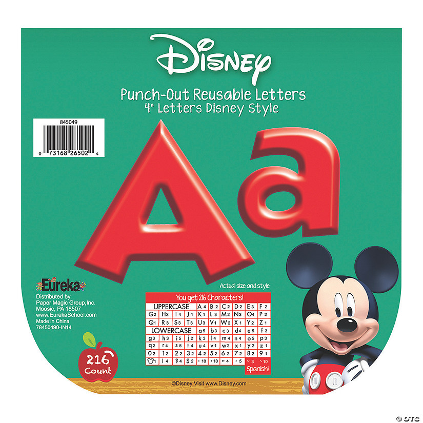 Eureka<sup>®</sup> Mickey Mouse Clubhouse<sup>®</sup> Bulletin Board Letters