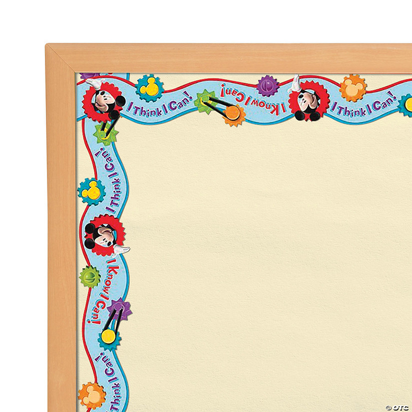 Eureka<sup>®</sup> Mickey Mouse Clubhouse<sup>®</sup> I Think I Can Wide Bulletin Board Borders