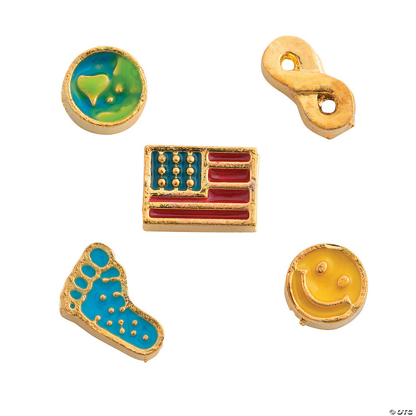 Everyday Goldtone Floating Charm Assortments - 5mm
