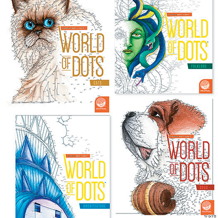 Extreme Dot to Dot: World of Dots: Set of 4 with FREE MARKERS