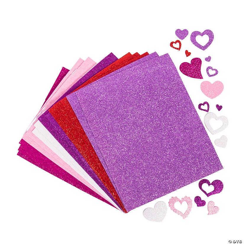 Fabulous Foam Self-Adhesive Glitter Hearts