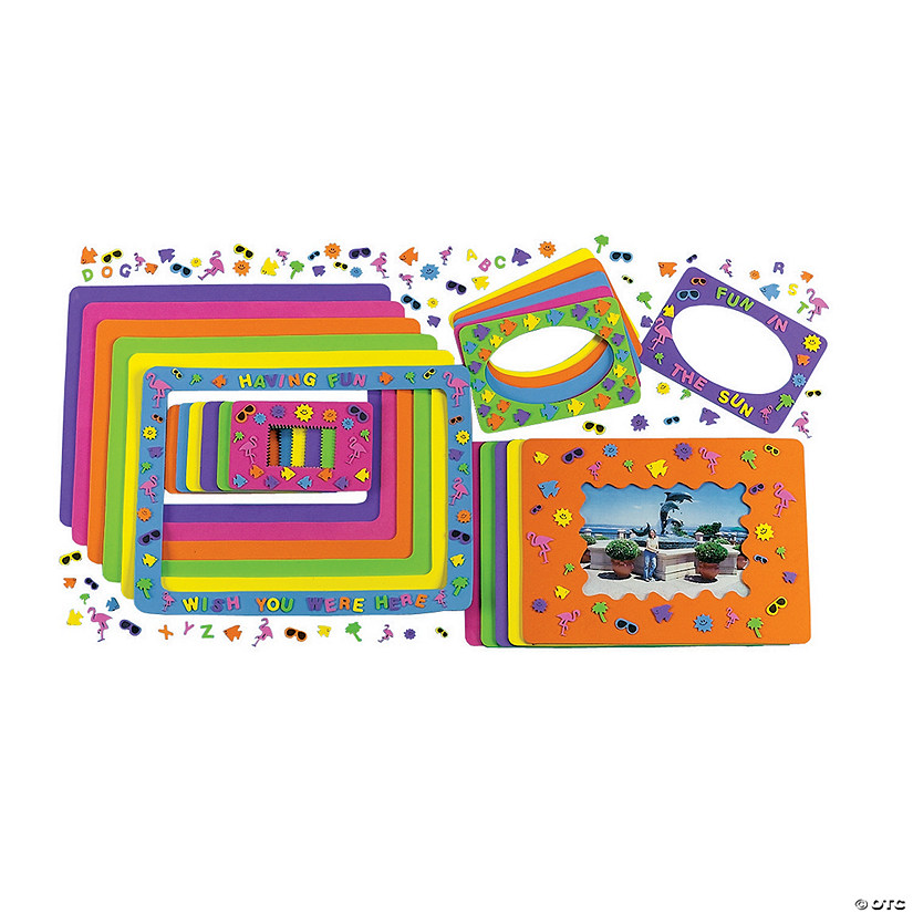 Fabulous Foam Summer Fun Frames