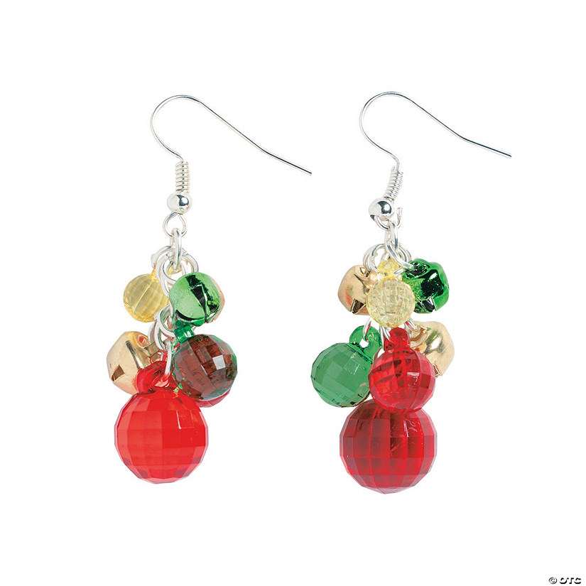 Faceted Ball & Jingle Bell Earrings Craft Kit
