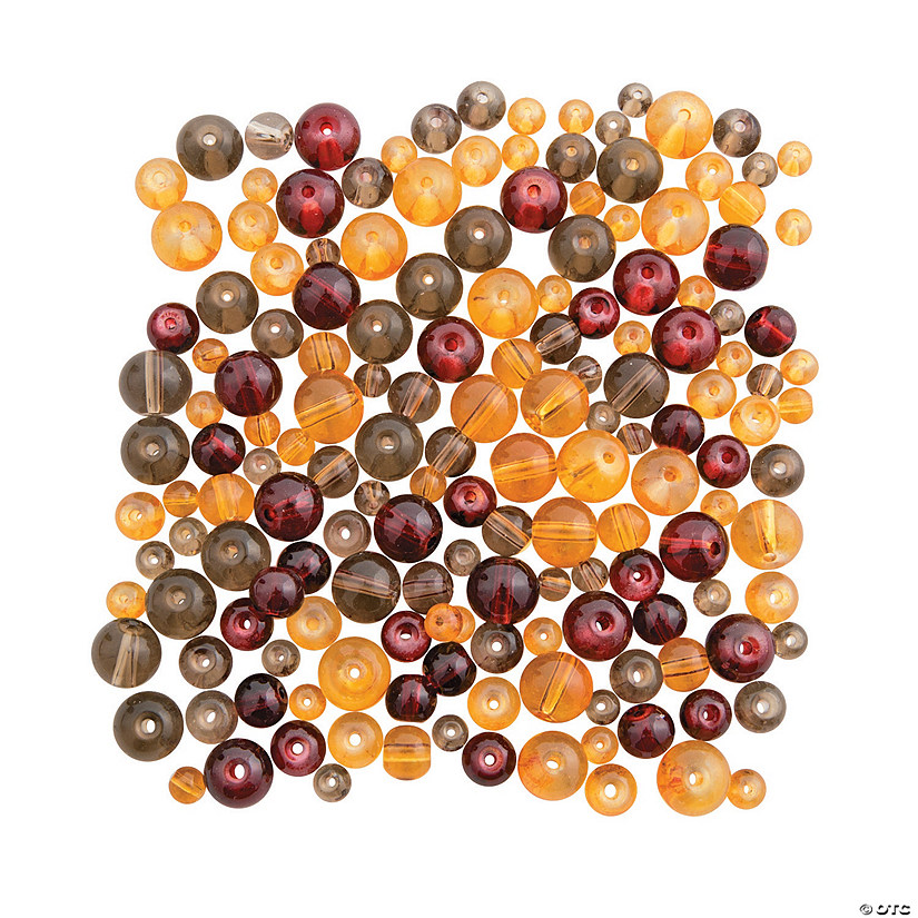 Fall Colors Round Bead Assortment - 4mm - 8mm