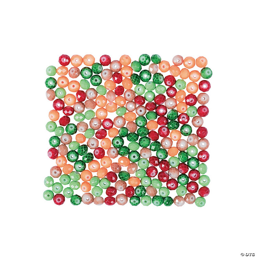 Fall Faceted Beads - 6mm