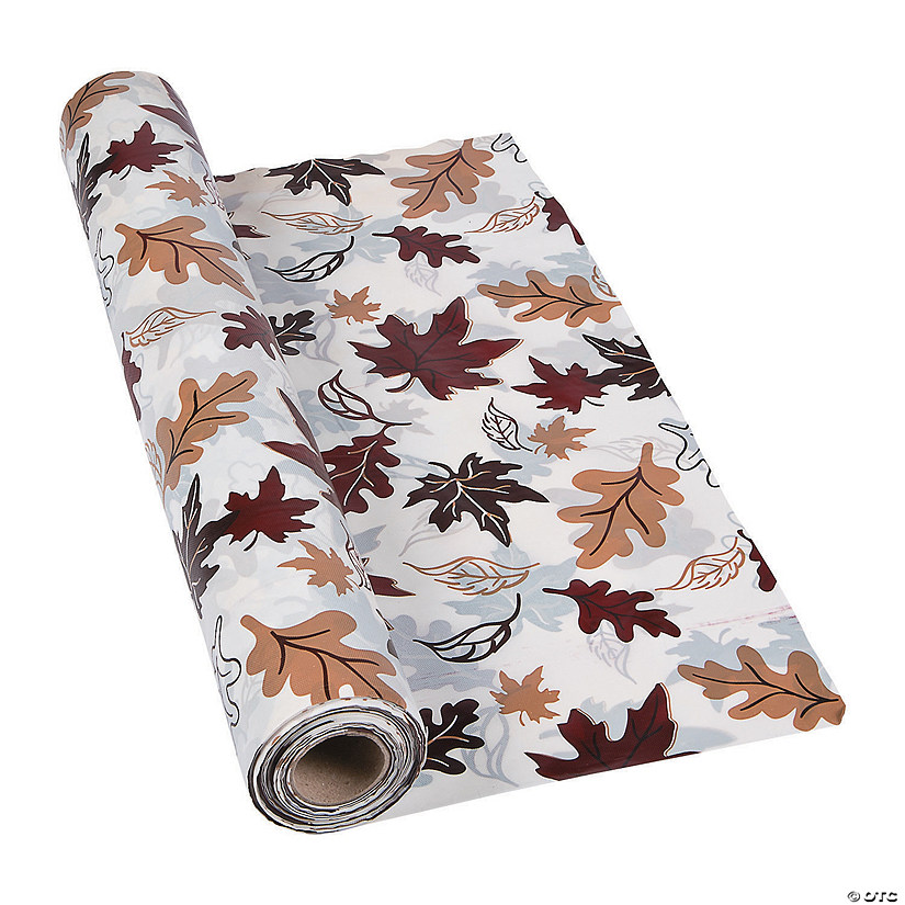 Fall Leaves Plastic Tablecloth Roll