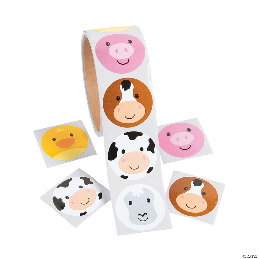 Farm Animal Face Stickers