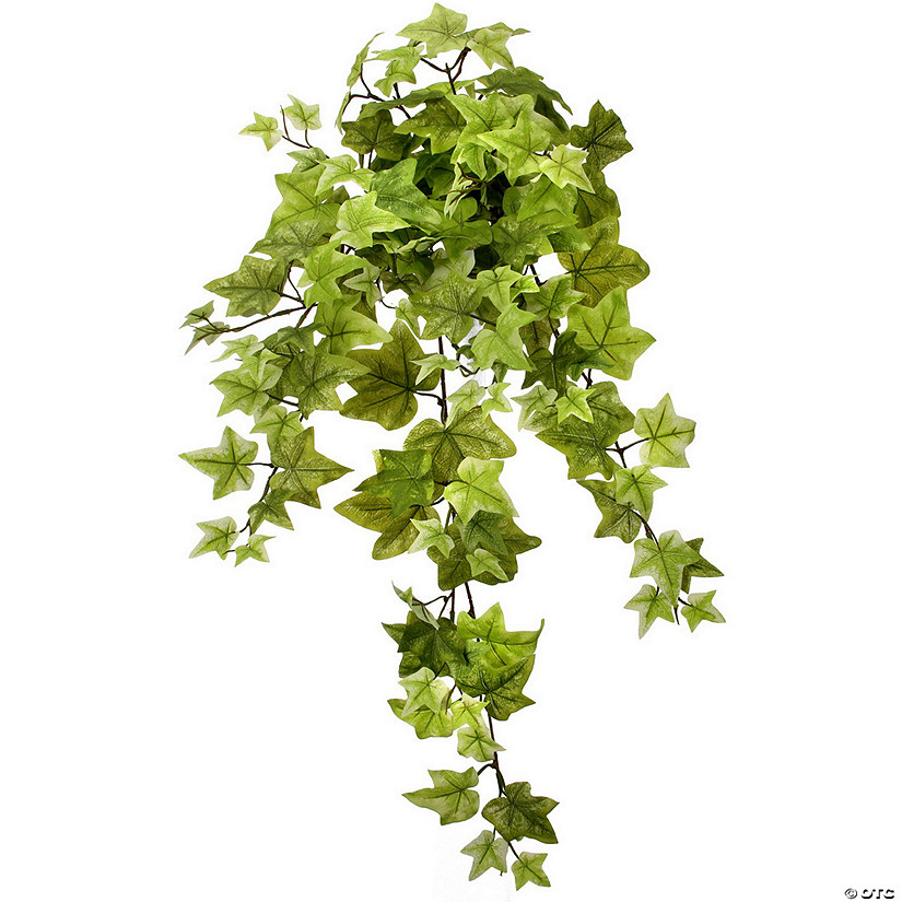 "Faux Belle Ivy Hanging Bush X9 34""-Light Green"