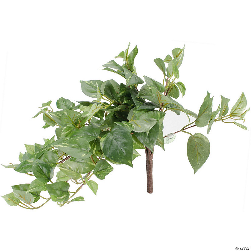 Faux Courtyard Pothos Bush X144-Cream/Green