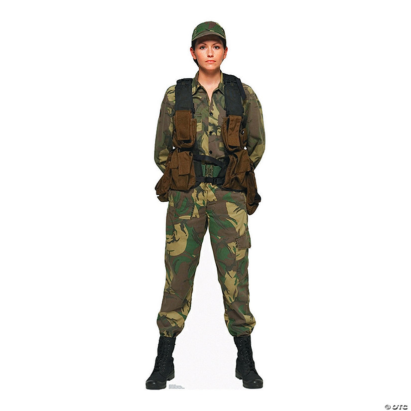 Female Soldier Cardboard Stand-Up