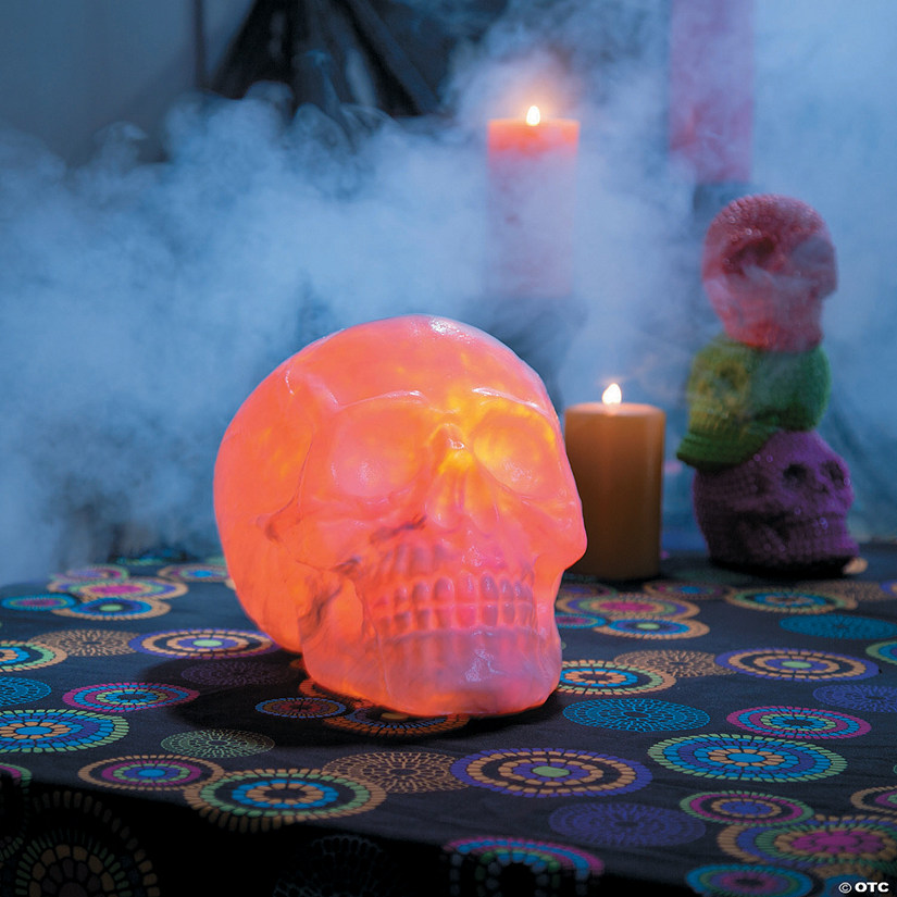 Fire & Ice Skull Halloween Decoration