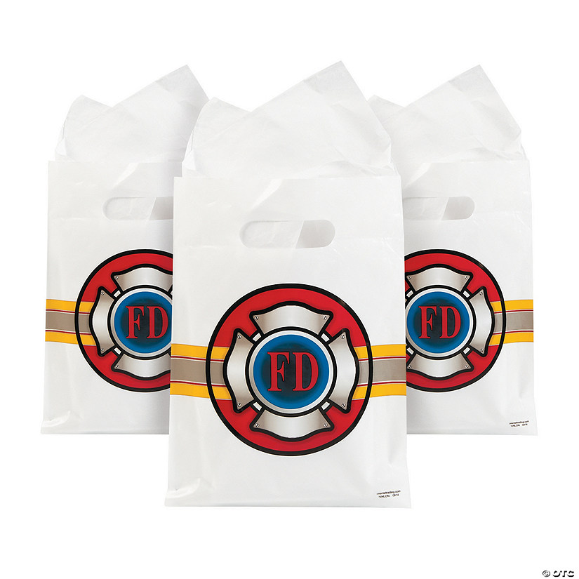 Firefighter Party Treat Bags