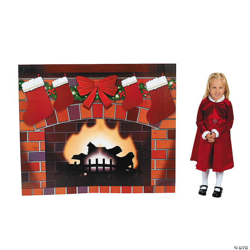 Fireplace Cardboard Stand-Up