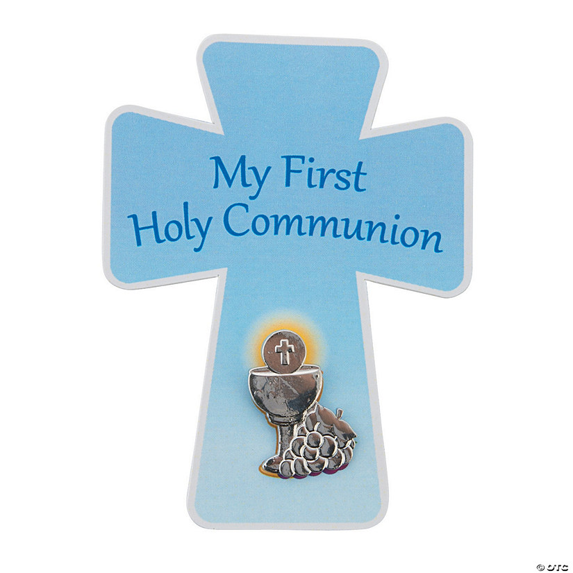 First Communion Cross Pins with Card