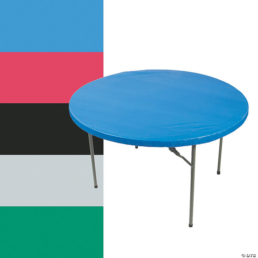Fitted Round Plastic Tablecloth