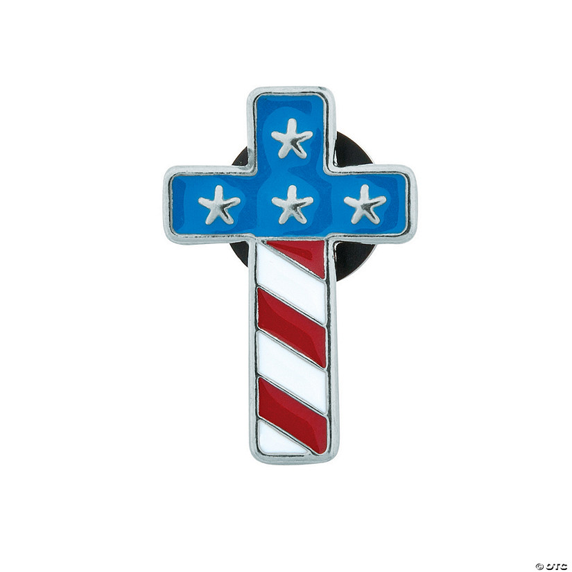 Flag Cross Enamel Pins