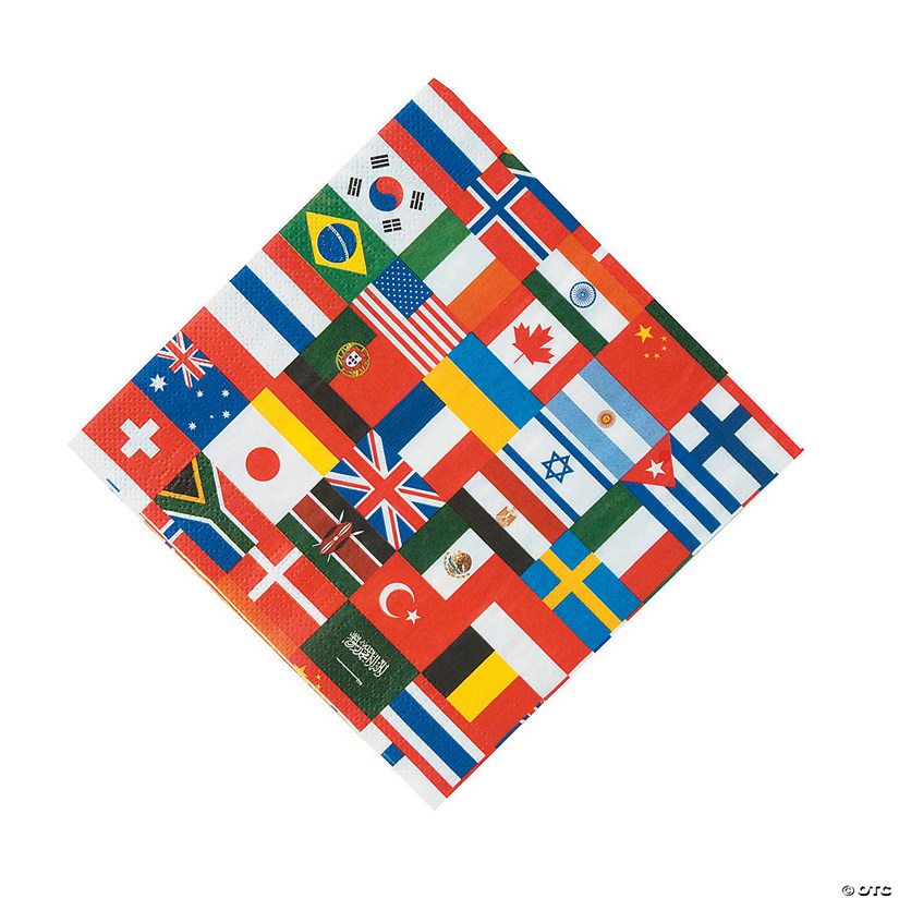 Flags of All Nations Luncheon Napkins
