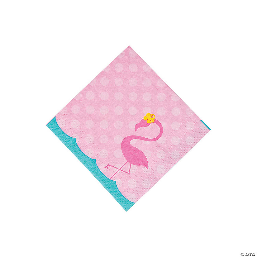 Flamingo Beverage Napkins