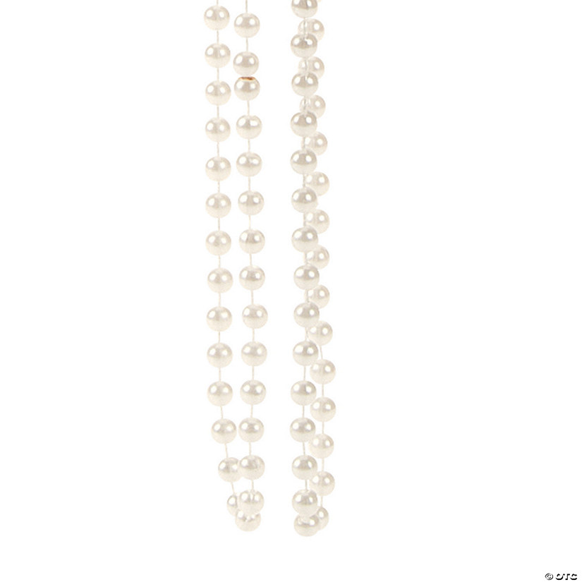 Flapper Style Faux Pearl Bead Necklaces