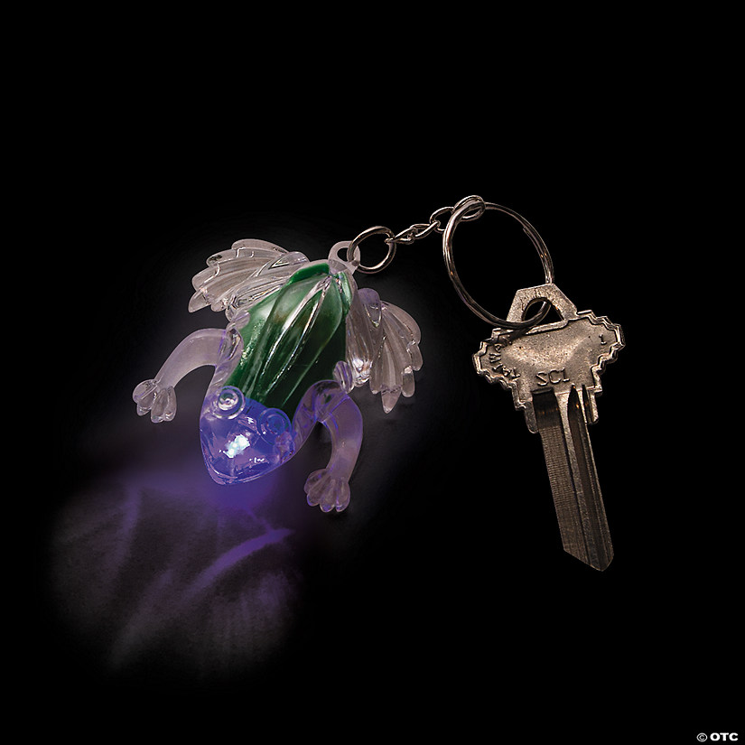 Flashing Frog LED Keychains