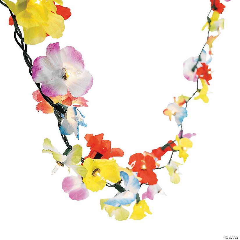 flower lei garland string lights