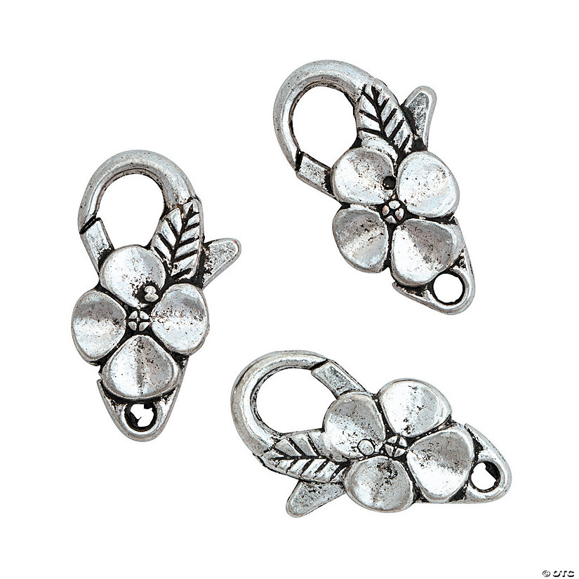 Flower Lobster Clasps