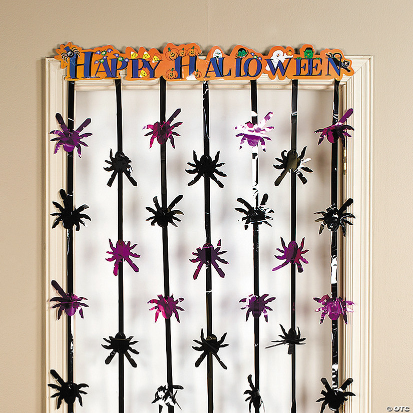 Foil Happy Halloween Door Curtain