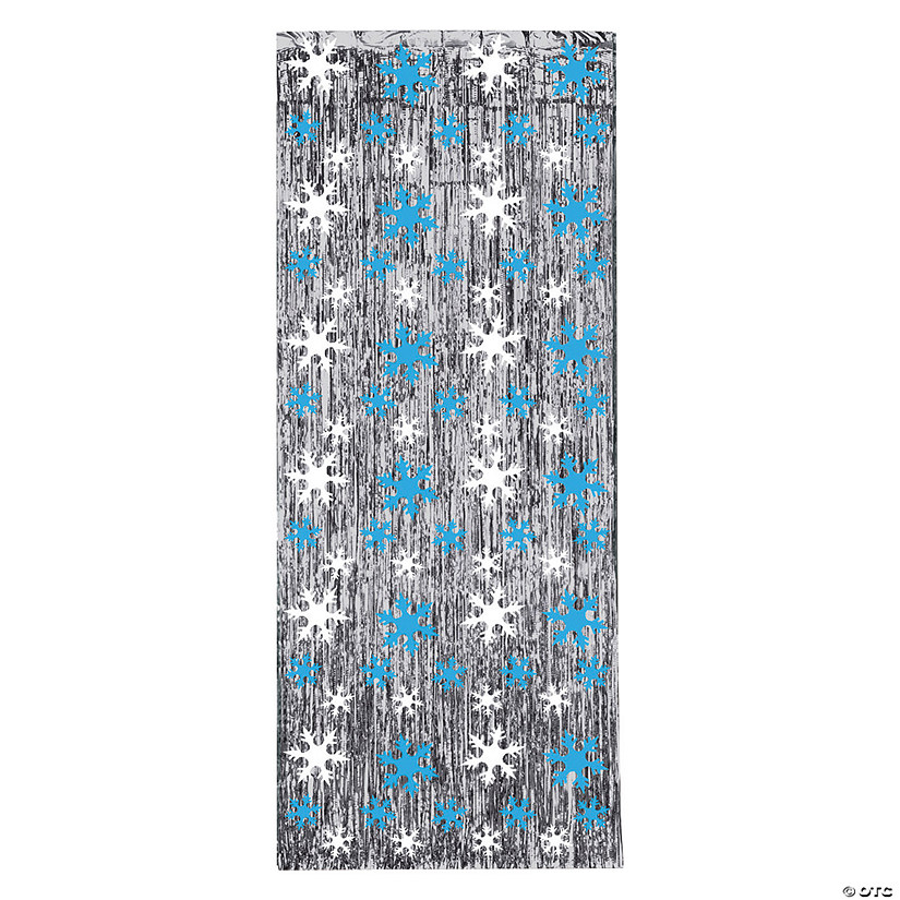 Foil Snowflake Gleam N Door Curtain