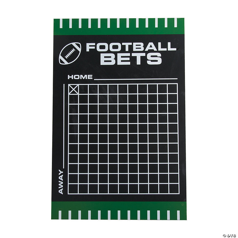 Football Betting Squares Chalkboard