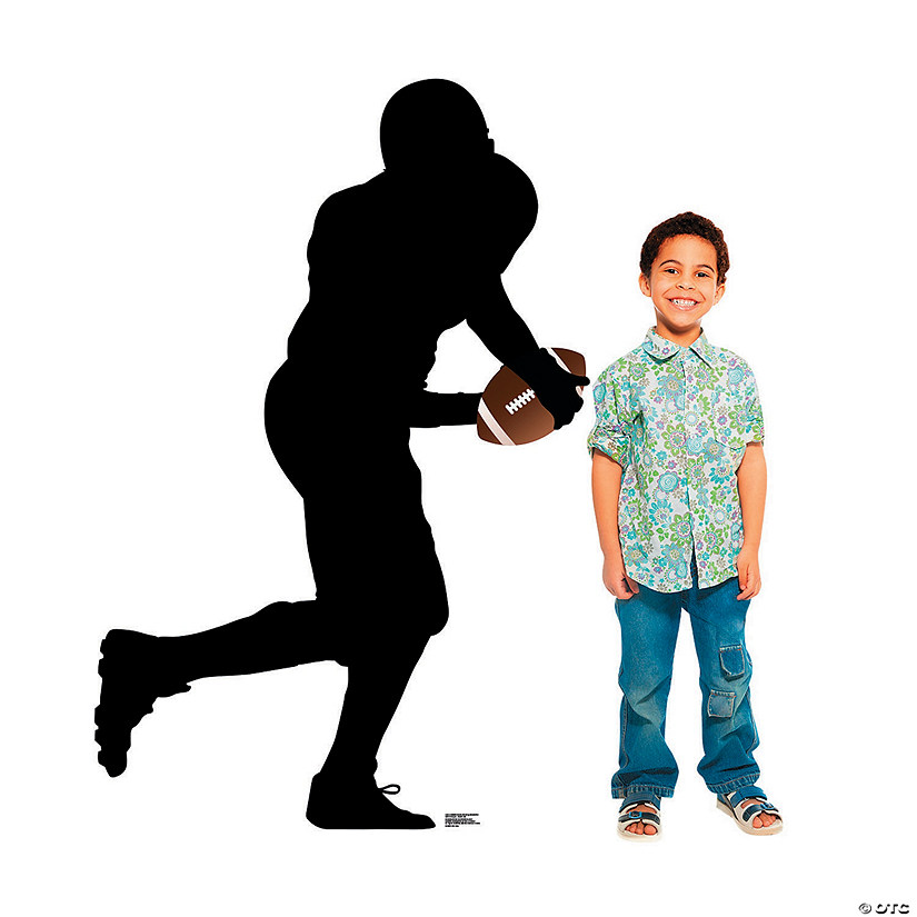 Football Player Running Silhouette Stand-Up