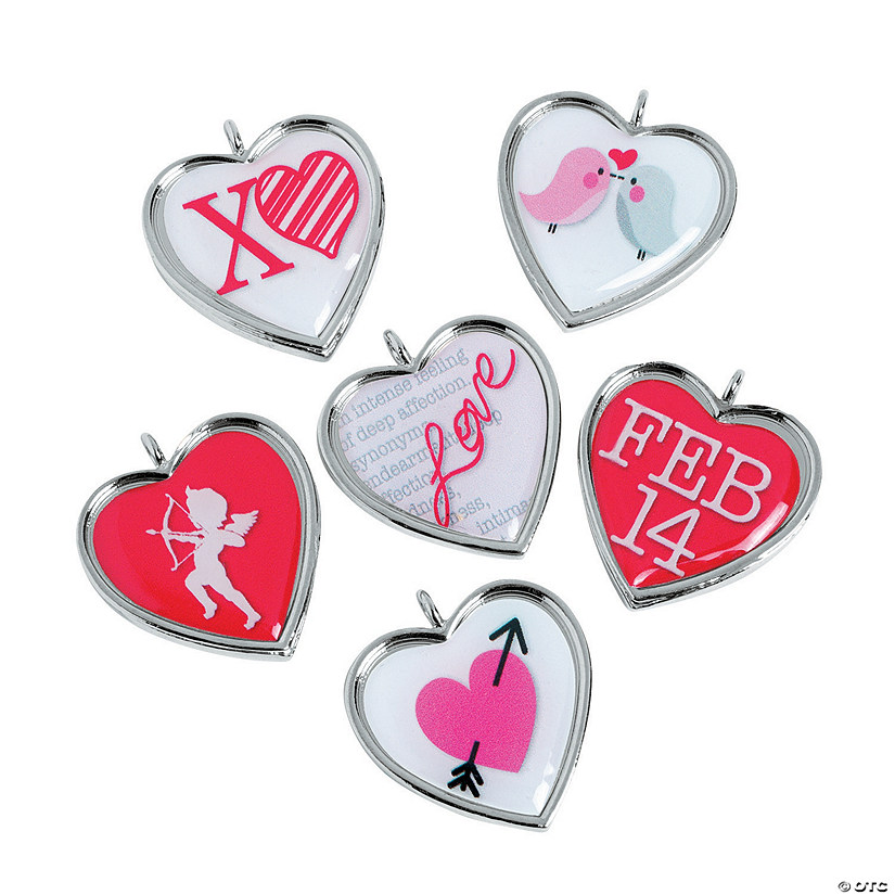 Framed Heart Valentine Charms