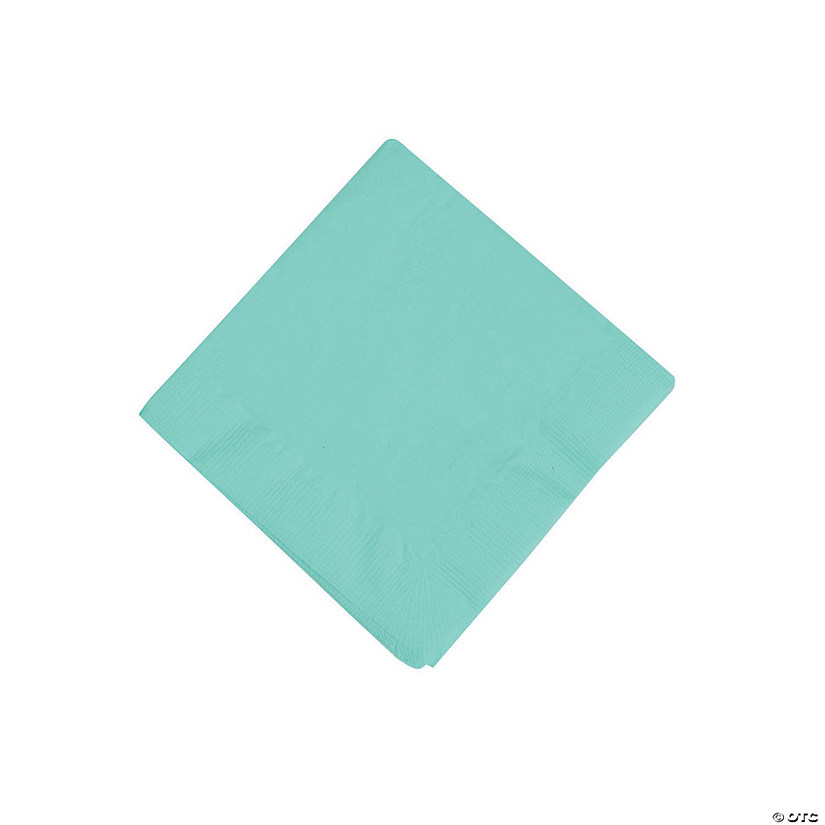 Fresh Mint Green Beverage Napkins