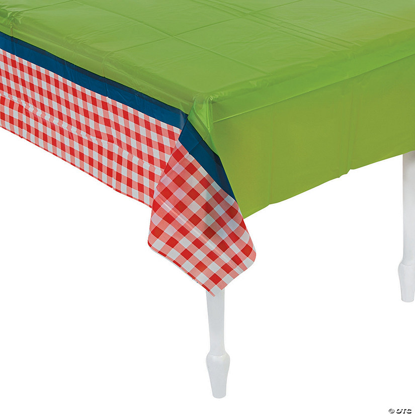 Garden Birthday Party Plastic Tablecloth