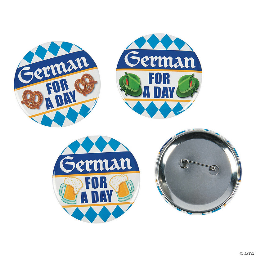 German for a Day Party Buttons