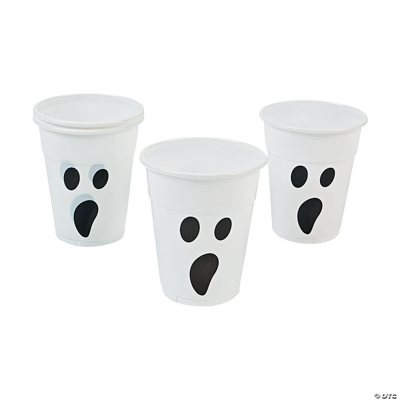 Ghost Plastic Cups